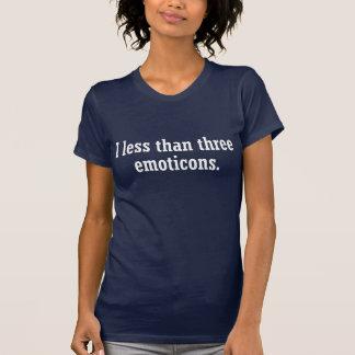 Mim t-shirt de menos de três Emoticons