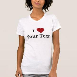 Mim t-shirt do coração (personalize)