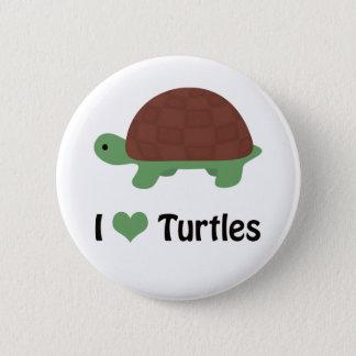 Mim tartarugas do coração (amor) bóton redondo 5.08cm