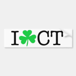 Mim trevo (coração) Connecticut CT do amor Adesivo Para Carro