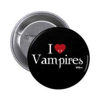 Mim vampiros do coração bóton redondo 5.08cm