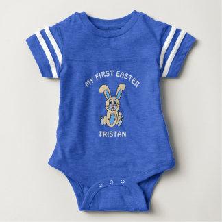 Minha camisa azul do bebê do coelhinho da Páscoa
