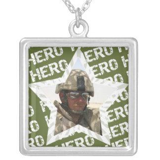 Minha colar do encanto da foto do soldado do herói