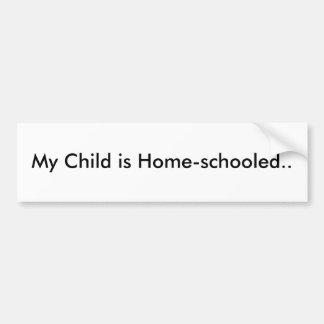 Minha criança Casa-é educada. Adesivo Para Carro