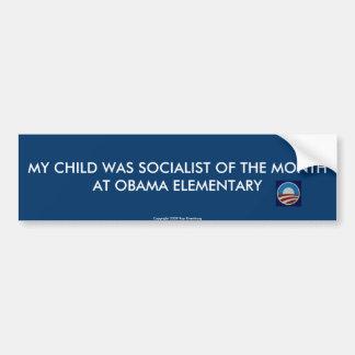 Minha criança era socialista do mês… adesivo para carro