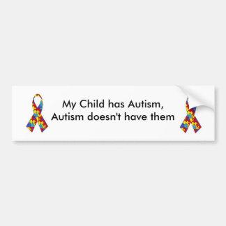 Minha criança está com o autismo. Autocolante no v Adesivo Para Carro