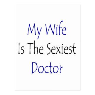 Minha esposa é o doutor o mais sexy cartoes postais