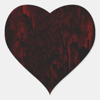 Minha etiqueta do coração de sangramento adesivo de coração