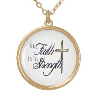 Minha fé colar banhado a ouro