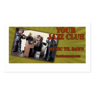 Minha imagem do clube de jazz cartão de visita