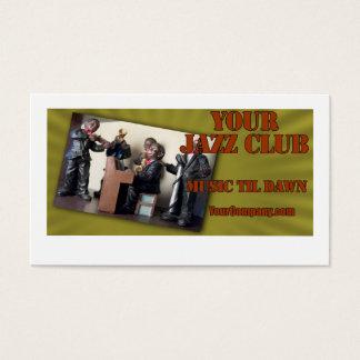 Minha imagem do clube de jazz cartão de visitas