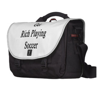 Minha irmã obterá rica jogando o futebol mochila para laptop