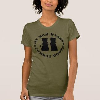 Minha mamã veste t-shirt das botas de combate