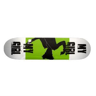 Minha menina, aniversário, presente, menina, menin skate boards