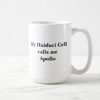 Minha pilha de Haiduci chama-me Apollo Caneca