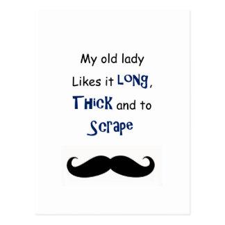 Minha senhora idosa cartão postal