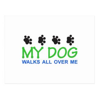 Minhas caminhadas do cão cartão postal