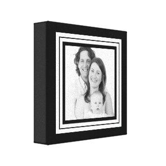 Mini canvas da família preto e branco corajosa impressão de canvas esticadas