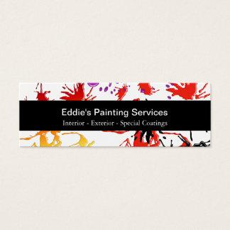 Mini cartões de visitas do pintor