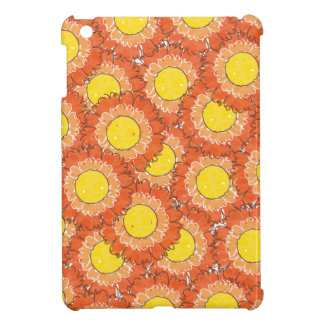 Mini caso do iPad bonito das flores - laranja iPad Mini Capas