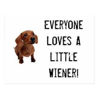 Mini Dachshund pouco cartão do Wiener