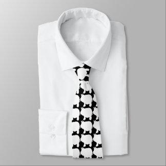 Mini laço branco do porco gravata