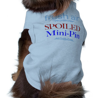 Mini-Pin estragado Camisa Sem Mangas Para Cachorro