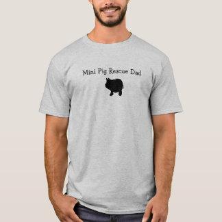 Mini t-shirt do pai do salvamento do porco