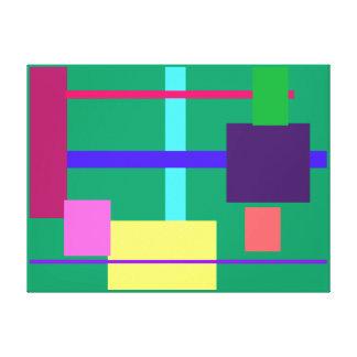 Minimalista Impressão De Canvas Esticada