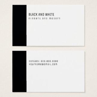 minimalista elegante & moderno preto e branco cartão de visitas