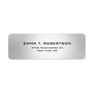 Minimalista na moda moderno elegante cinzento etiqueta endereço de retorno