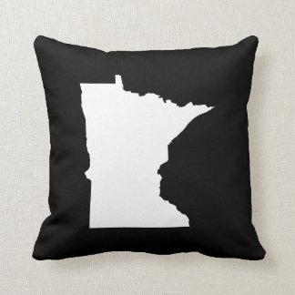 Minnesota no branco e no preto travesseiro