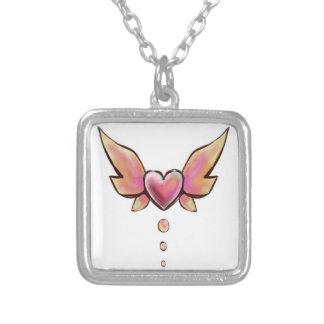 Miríade cor-de-rosa do coração bijuteria personalizada