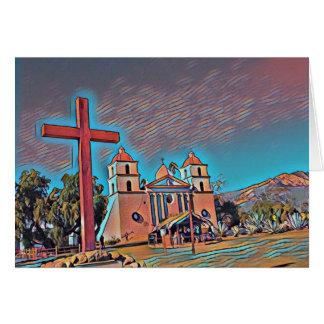 Missão Santa Barbara de Califórnia Cartão Comemorativo