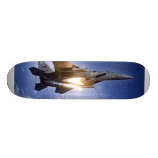 míssil de lançamento do jato f-15 shape de skate 18,1cm