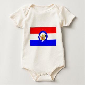 Missouri-Bandeira Macacãozinhos Para Bebê