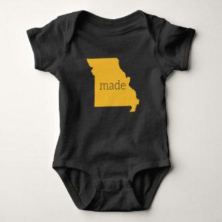 Missouri fez o Bodysuit do bebê {preto e o ouro} T-shirts