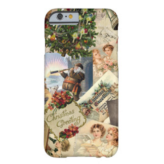 Mistura do natal vintage capa iPhone 6 barely there