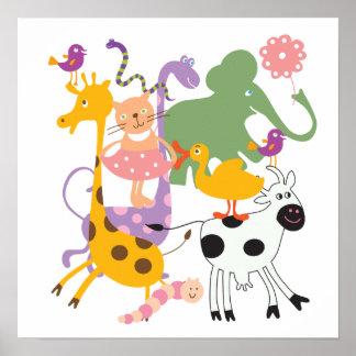 Mistura variada animal impressão