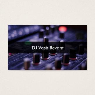 Misturador profissional do DJ Cartão De Visitas