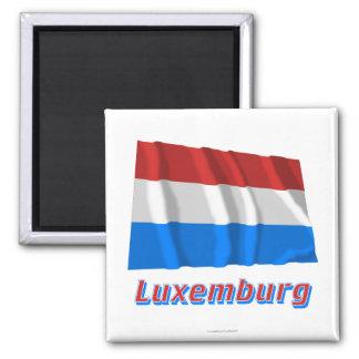 Mit Namen de Luxemburg Fliegende Flagge Ímã Quadrado