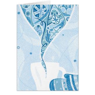 Mitene que guardara a caneca no teste padrão azul cartão