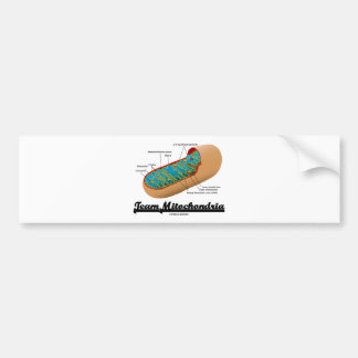 Mitocôndria da equipe (humor de Mitochondrion) Adesivo Para Carro