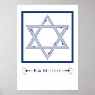 mitzvah do bar (elegância da estrela de David) Poster