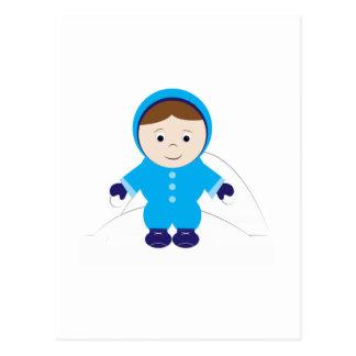Miúdo da neve cartao postal