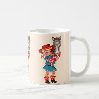 Miúdo da vaqueira caneca de café