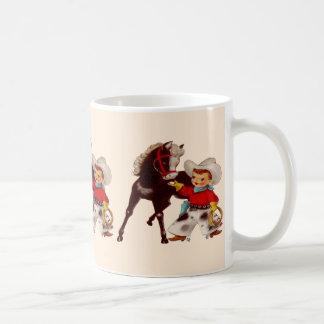 Miúdo do vaqueiro caneca de café