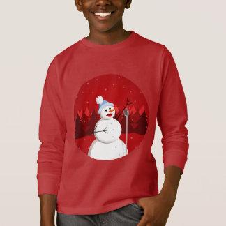 Miúdos de canto felizes da obscuridade do Natal do T-shirt