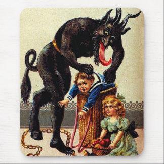 Miúdos de Krampus no Natal Mousepad do feriado da
