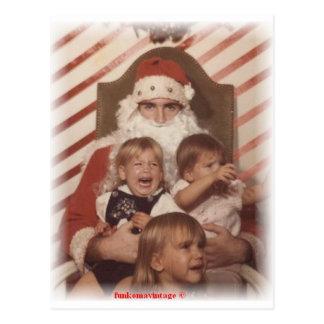 Miúdos de lamentação do Natal Cartão Postal